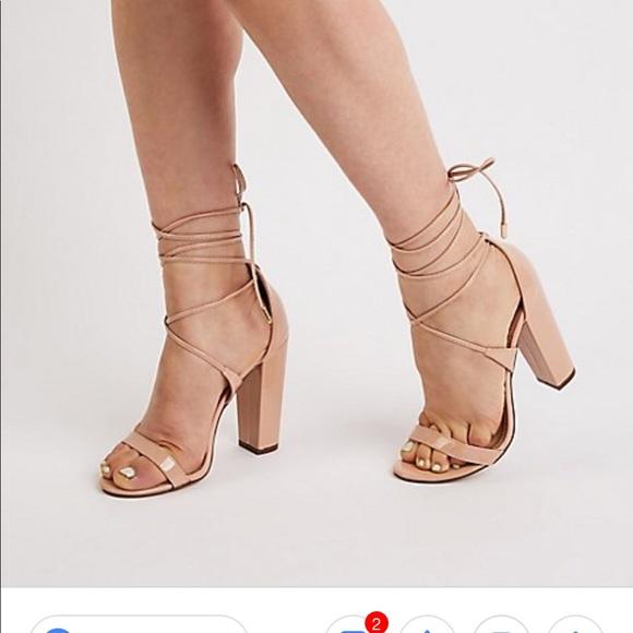 bf931bcb459 Charlotte Russe Cassie 02 Ankle Wrap Block Heel 6